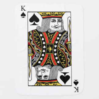 King of Spades Stroller Blanket