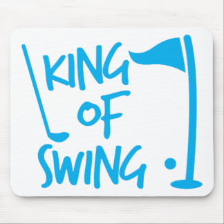 King of SWING! golf ball and golf club Mouse Pad