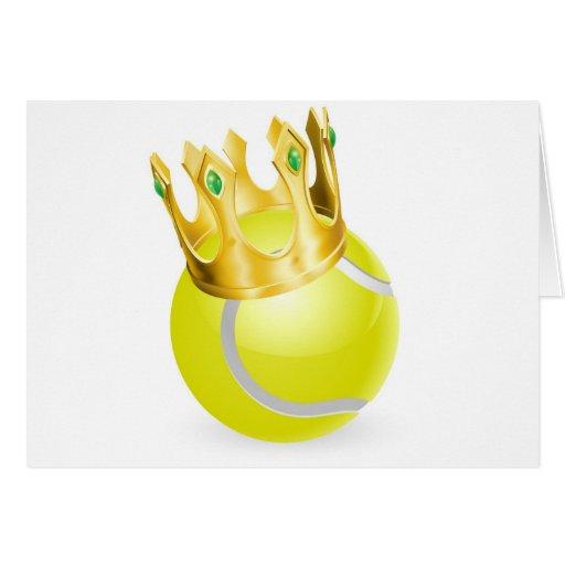 king of tennis ball crown 2012.jpg greeting card