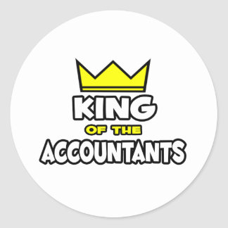 King of the Accountants Classic Round Sticker