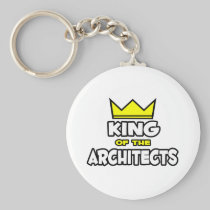 King of the Architects Basic Round Button Keychain