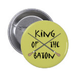 King of the Baton Conductor Gift Buttons