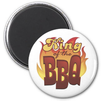 King Of The BBQ 2 Inch Round Magnet