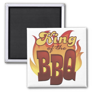 King Of The BBQ 2 Inch Square Magnet