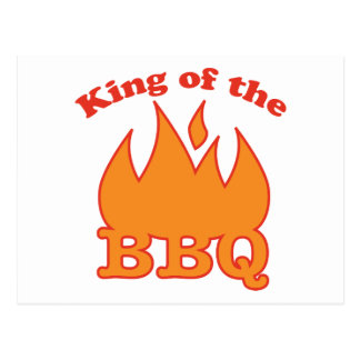 King Of The BBQ Postcard