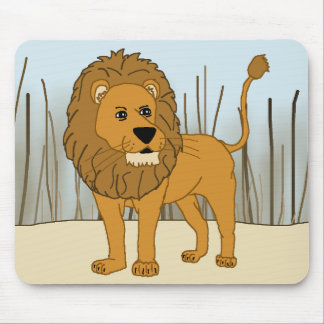 King of the Beast - Lion Mouse Pad