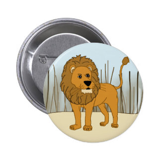 King of the Beast - Lion Pinback Button