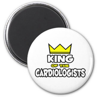 King of the Cardiologists 2 Inch Round Magnet