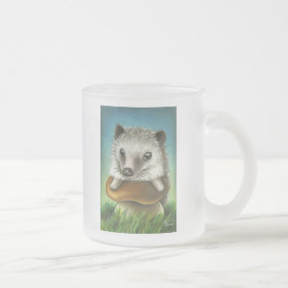 king of the castle frosted glass coffee mug