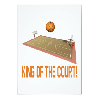 King Of The Court 5x7 Paper Invitation Card