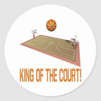 King Of The Court Classic Round Sticker