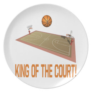 King Of The Court Melamine Plate