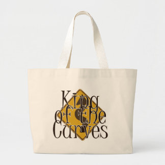 King of the Curves Large Tote Bag