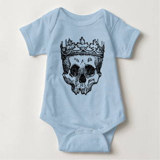 King Of The Dead, Skull and Crown Baby Bodysuit