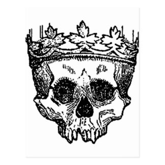 King Of The Dead, Skull and Crown Postcard