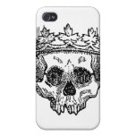 King of the Dead Skull iPhone 4 Cases