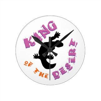 King of the Desert Round Clock