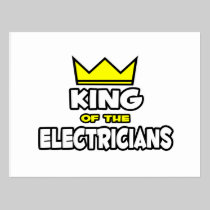 King of the Electricians Postcard