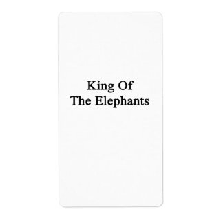 King Of The Elephants Label