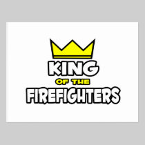 King of the Firefighters Postcard