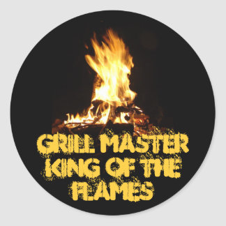 King of the Flames Classic Round Sticker