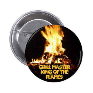 King of the Flames Pinback Button
