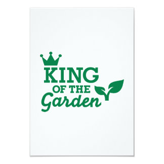 King of the Garden Personalized Invite