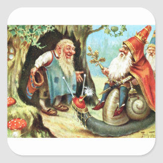 King of the Gnomes Square Sticker