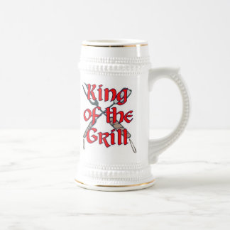 King of the Grill 18 Oz Beer Stein
