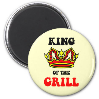 King of the Grill 2 Inch Round Magnet