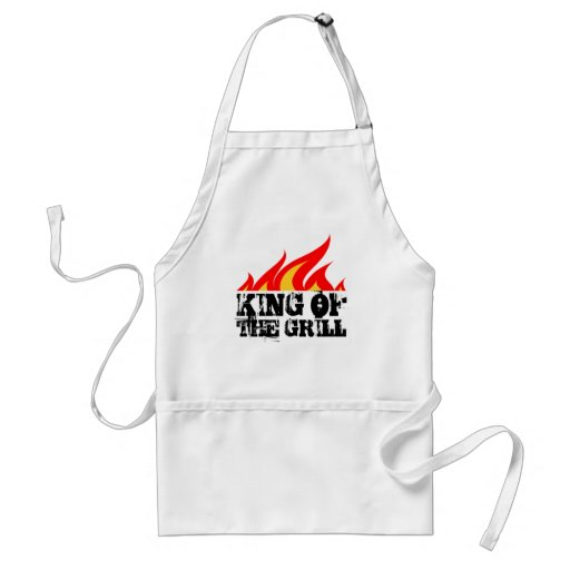 King of the grill aprons in beige white and yellow