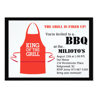 King of the Grill Barbecue Invitation