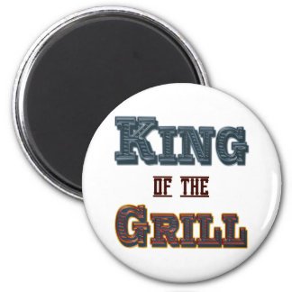 King of the Grill BBQ Cooking Slogan Fridge Magnet