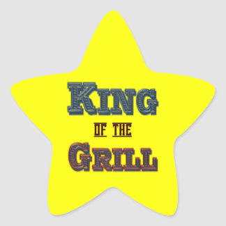 King of the Grill BBQ Cooking Slogan Star Sticker