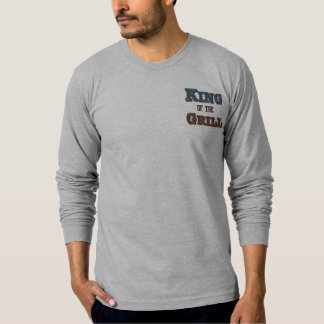 King of the Grill BBQ Cooking Slogan T-shirt
