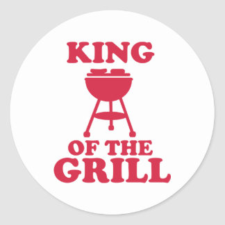 King of the grill - BBQ Round Stickers