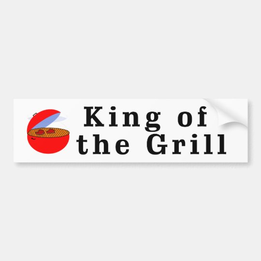 King of the Grill Bumper Sticker