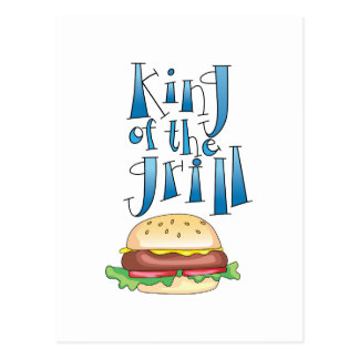 King Of The Grill Burger Postcard