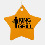 King of the Grill Ceramic Ornament