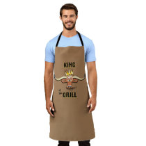 King Of The Grill - Comical Steer Apron