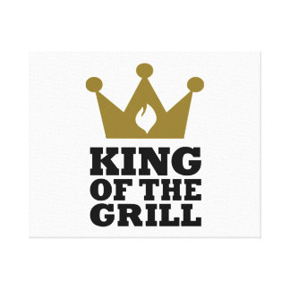 King of the grill crown canvas print