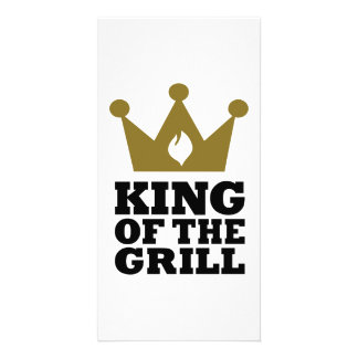 King of the grill crown photo card