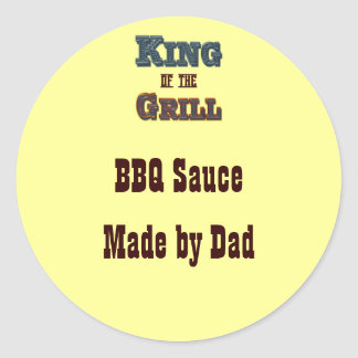 King of the Grill Custom Canning Label Sticker