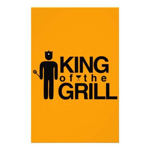 King of the Grill Custom Stationery