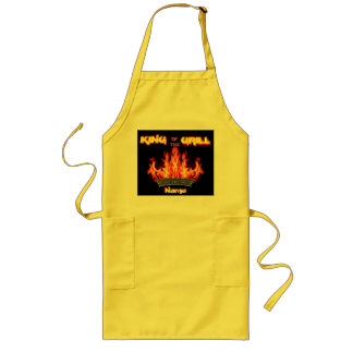 King of the Grill, Dad's Gift Apron. Chef, Cook Long Apron
