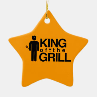 King of the Grill Double-Sided Star Ceramic Christmas Ornament