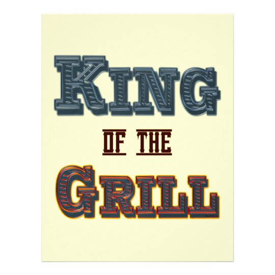 King of the Grill Flyer Template