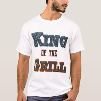 King of the Grill Funny BBQ Cookout Saying T-Shirt