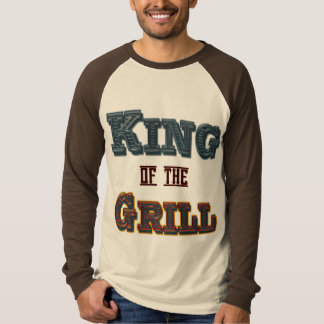 King of the Grill Funny BBQ Cookout Saying Tee Shirt