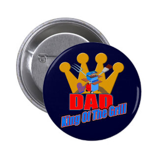 King Of The Grill Gifts For Him Button